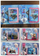 TF-02150722007 Wholesale frozen children projection watch and purse kid lovely gift