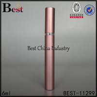 pink perfume bottle 5ml 6ml 8ml 10ml metal perfume bottle custom aluminum perfume atomizer pen shape glass sprayer bottle