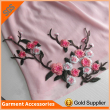 Plum Flower Design Handmade Applique Embroidery Flower Patches