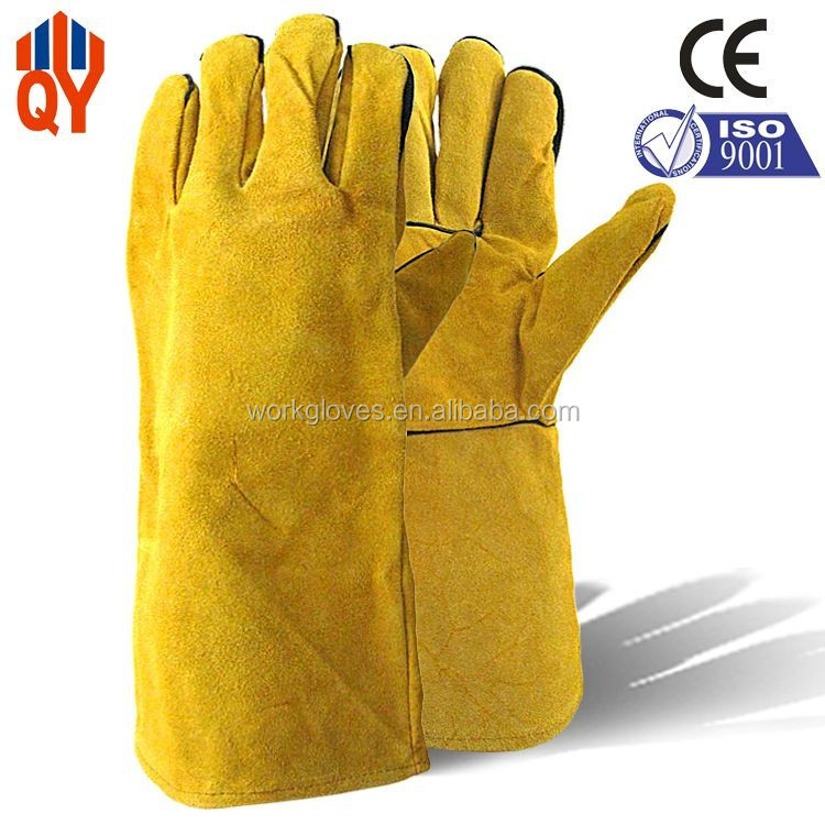 Wholesale High Quality Yellow Welding Gloves Heat Protection