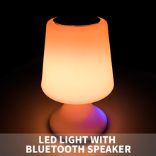 New product plastic LED bluetooth speaker with night light / rechargeable LED table lamp speaker