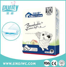 High absorption Good comfortable pampering pet pad Ultra thin Cloth Super dry pet pad cleanly
