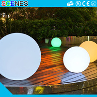 rotating world ceiling fan acrylic globe solar hanging decorative large outdoor christmas led glowing orb balls pool light