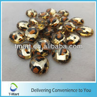 Decorative acrylic flat round beads for garment