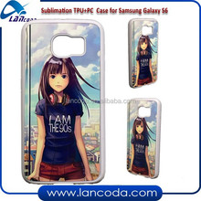 aluminum insert sublimation case for Samsung Galaxy S6 G9200,sublimation tpu+pc case,2d sublimation case