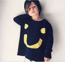 wholesale new 2016 Autumn winter Kids boys girls smiling face Sweater