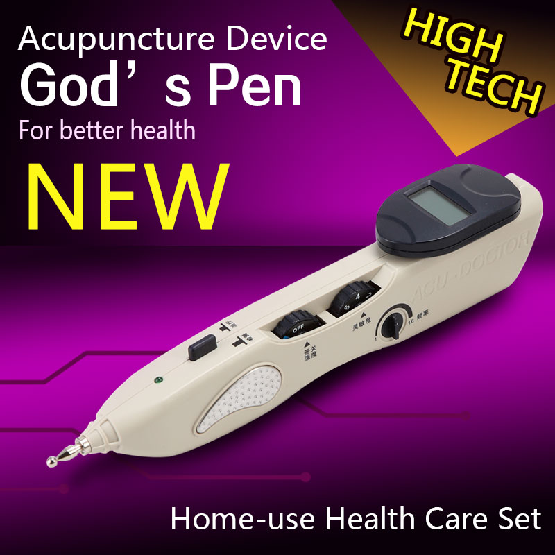 2016 new invention electronic acupuncture device for muscle tension relax acupoints therapy set magic massage pen made in China