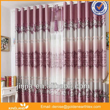 2015 New fashion design cheap pricevoile curtain with loops curtain window top designs ready made sheer curtains