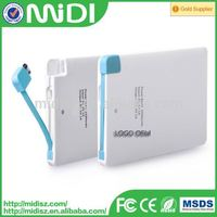 2016 new best quality power bank 3000mAh for mp3