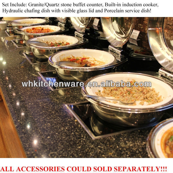 Induction cooker table ,porcelain pan, chafer/ buffet service