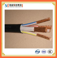 4 core solid copper wire VV cable pvc insulated sheathed round cable electric wire protection tube
