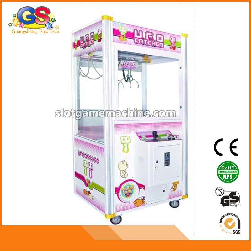 LED Plastic Cabinet Hot Sale Indoor Arcade Coin Operated Prize Redemption Toy Claw Crane Game Machine Kit Parts