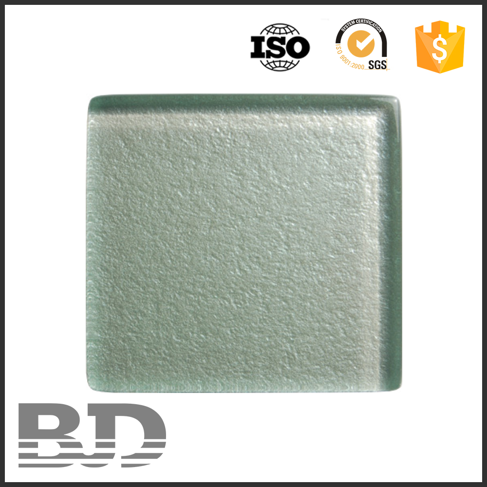 Glass Material Glossy Surface gold color swimming pool glass mosaic tile