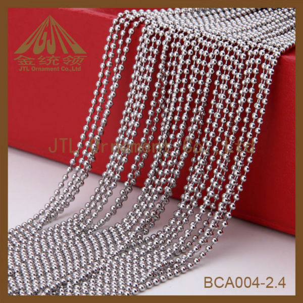 fashion metal vertical nice ball bead chain for decoration