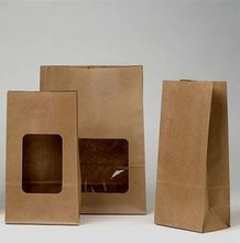 Safety And Health Economic brown bread kraft window paper bag