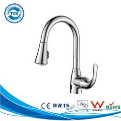 Alibaba China high flow flexible kitchen faucet with motion sensor