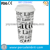 high quality white porcelain unique thermos mug for promotions