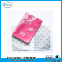 Pink flower cover pvc passport holder assorted colors