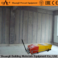 120*600 model precast concrete hollow core wall panel extruder for precast house prefab home