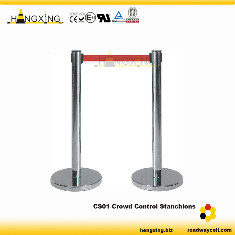 CS01 Stainless Steel Retractable Barrier Tape