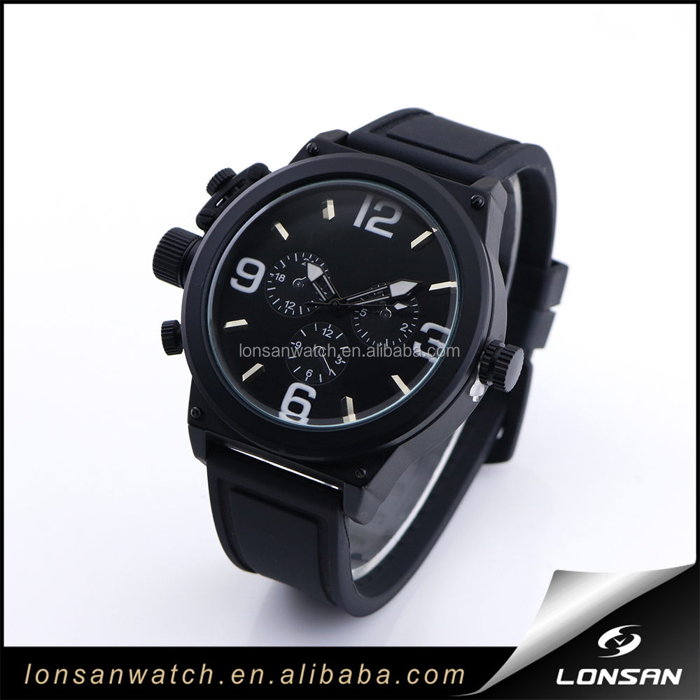 Paypal Payment New Arrival Wrist Watch for Men Rubber Strap