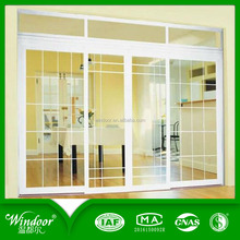 Two panes french interior door with door lock security system french pvc interior glass doors