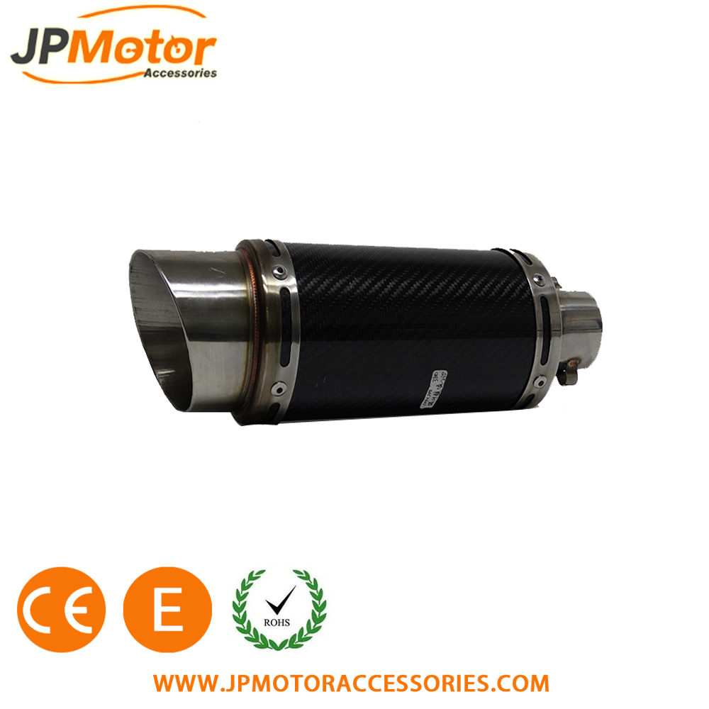 JPMotor Motorcycle 51mm Carbon Fiber Exhaust Pipe Muffler With Moveable DB Killer For CB400 CB600 CBR600