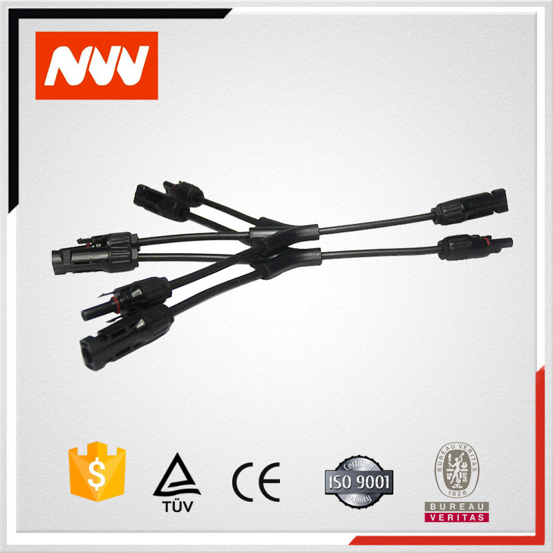 3 to 1 type MC4 Solar panels cable connector Female and Male