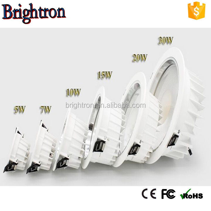 outdoor lighting CRI80 8 inch recessed ul listed led downlight