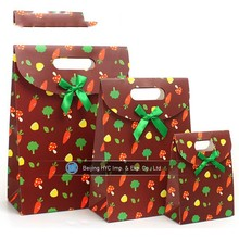 Factory made shopping paper bag cotton rope handles paper bags