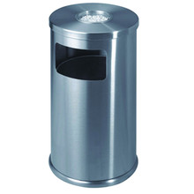 Stainless Steel Round Shape Cigarette Ashtray Bin at Reasonable Price
