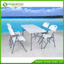 Wholesale Popular OEM Outdoor Folding Camping Beach Garden Patio Plastic HDPE Table Chair Furniture Set Direct Factory