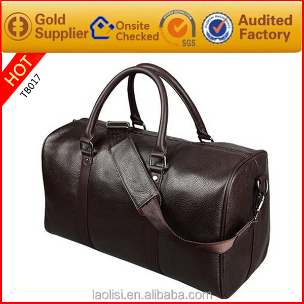 wholesale factory price 2015 customize leather luggage cases travel big bags
