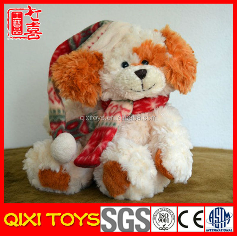 christmas ornaments wholesale dog plush toy christmas toy
