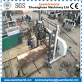 heavy duty horizontal wood band saw with diesel engine
