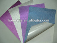 Colorful self adhesive glitter film, printed glitter film stickers