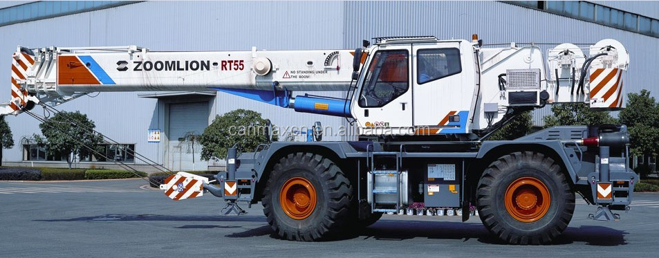 2015 new RT55 55ton off-road tire crane rough terrain crane with high quality after-sale service