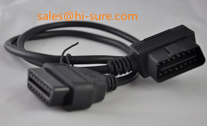 J1962 OBD2 Extension cable Male to Female for OBD2 scanner