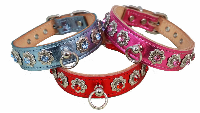 USA Made - Diamond/Crystal/Rhinestone dog collars