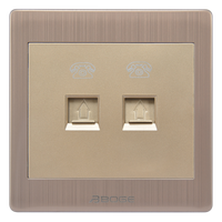 two gang telephone socket pressure-line type