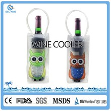 Drinking Cooling High Quality Stylish Gel Wine Bottle Holder Cooler bag