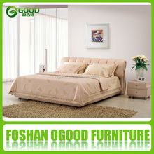 Wood Frame Soft Black Leather Sofa and Bed