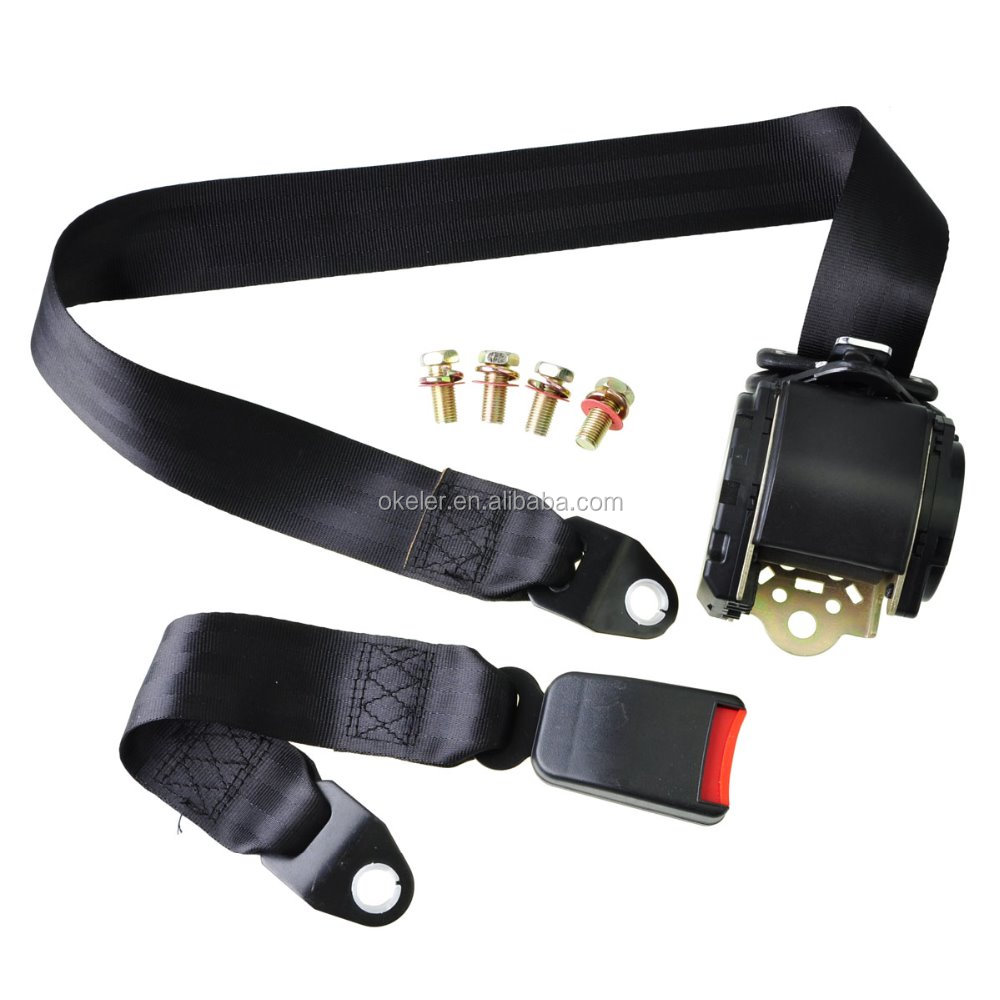 hot sale Universal Retractable 3 Point automatic Car safety Seat Belt