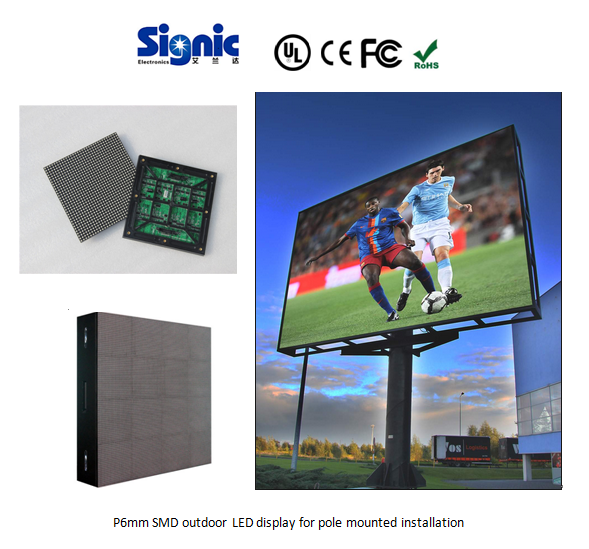 Full-color SMD P5 P6 P6.25 P7.62 P10 indoor LED video /screen/panel display