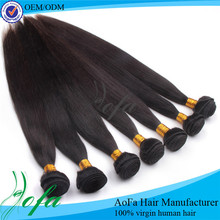 Fashionable 100% Peruvian remy virgin human hair weft