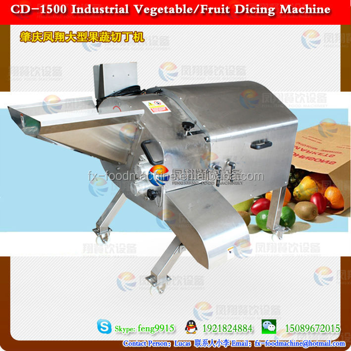 Food dicing machine/fruit cuber machine/vegetable cubes cutter