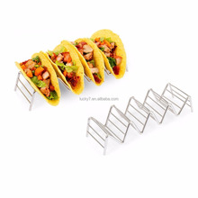 Stainless Steel Taco Holder Stand Set Of 2 Premium Stainless Steel Taco Rack 4 or 5 Dishwasher Safe Taco Holders
