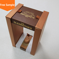 Single bottle paper red wine box for gift packaging
