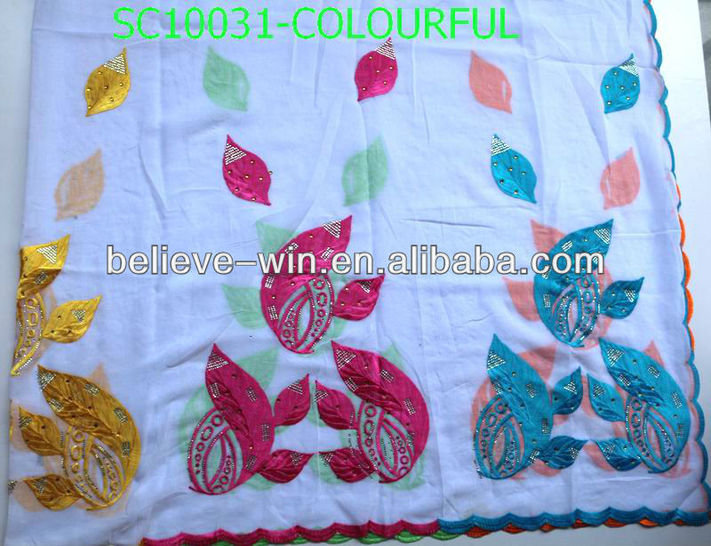 2013 new fashion big muslim women scarf of SC10031-colourful