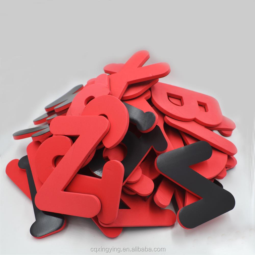 magnetic alphabet over Size EVA foam letters